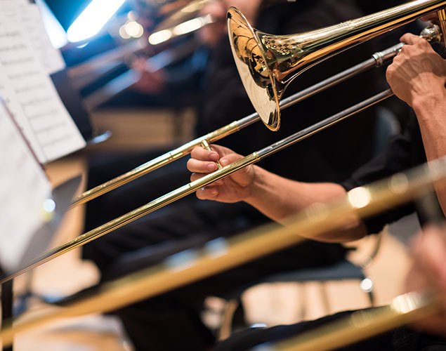 Photo - trombone during performance