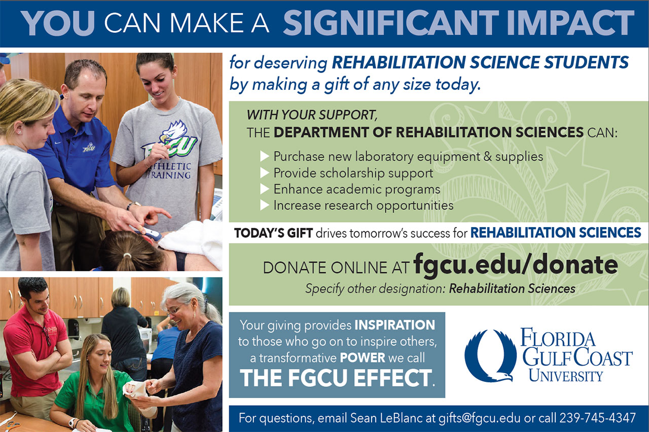 Donate to Rehabilitation Sciences